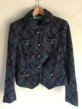 NEW $400 Marc Jacobs Chelsea Multi Color Embroidered Wool Button Jacket Size 8