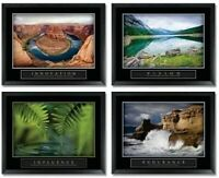 Framed Motivational Posters for Walls-Decorative Posters for Office, Classroom,