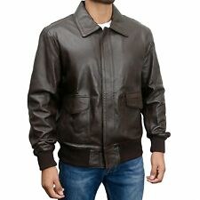 A 2 US Pilots Flying Leather Jacket Bomber WW2 American Air force S - 3XL