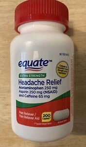 Extra-strength Headache Relief 200ct Equate Brand *Excedrin compare