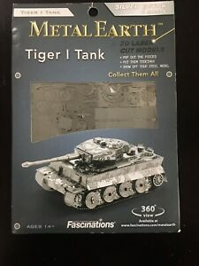 Metal Earth Tiger 1 Tank 3D Laser Cut Models Silver Edition 2 Sheets BRAND NEW
