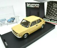 Model Car Scale 1/43 Fiat 127 Brumm Yellow diecast vehicles road vintage