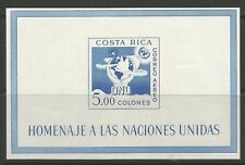 STAMPS-COSTA RICA. 1961. United Nations Miniature Sheet. SG: MS627a. MNH.