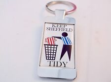 SHEFF WEDS SHEFFIELD WEDNESDAY KEEP AREA TIDY KEYRING KEY FOB BOTTLE OPENER