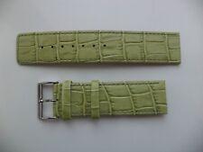 22mm Genuine Leather Watch Strap Green Alligator - Crocodile Grain