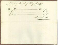 Woodbury, Connecticut, Manuscript Document, May 13, 1794