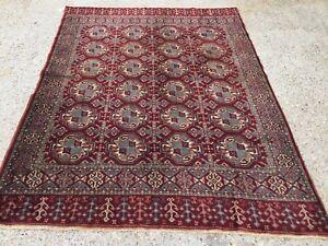 Turkish Vintage double sided Rug vegetable dye 175x132cm Persian Tribal boho old