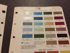 1970 BUICK,SKYLARK,LESABRE,RIVIERA,WILDCAT,OPEL ,PAINT CHIPS CHART.   ORIGINAL