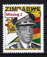 Zimbabwe 2009 Major ERROR 'Missing Z' in Heroes issue, MNH / **