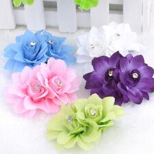 Elegant Women Bridal Wedding Crystal Flower Hair Clip Barrette Hair Accessories