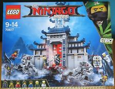 LEGO THE NINJAGO MOVIE  `` TEMPLE OF THE ULTIMATE WEAPON ´´  Ref 70617  NUEVO