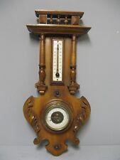 Ancien Baromètre - Thermomètre en bois sculpté.