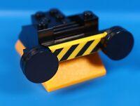 LEGO® City Eisenbahn Puffer Lok Prellbock schwarz mit gelb schwarzen Balken