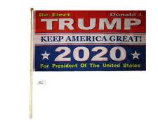 5' Wood Flag Pole Kit Wall Mount Bracket 3x5 Re-Elect Donald J. Trump 2020 Flag