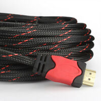 Ultra HDMI Cable - Male to Male - RED - 25 FT - Gold Plated Connectors - US Lot