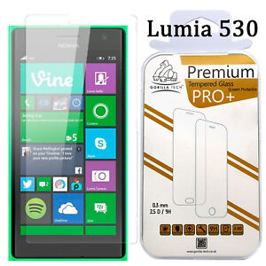 Lumia 530  Screen Protector Tempered Glass HD 100% Genuine Gorilla For Nokia