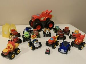 Blaze & The Monster Machines Lot Of 15 Trucks