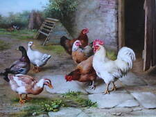 Chickens and Ducks by Edgar Hunt