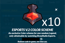 Brawlhalla Esports V.2 Color Codes x10, 400+ Reviews, DELIVERY IN MINUTES!!!