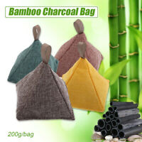 200g Air Purifying Bamboo Activated Charcoal Carbon Bag Deodorize Car Shoes Home