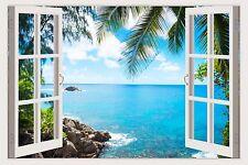 SMALL wall stickers murals SEA BEACH 2016 decals 3D window vinyl DIY decor W165