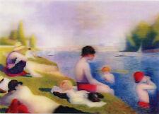 3D Lenticular Postcards -  Bathers at Asnières, Georges Pierre Seurat