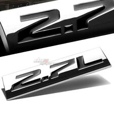 ALUMINUM STICK ON POLISHED CHROME BLACK 2.7L 2.7 L DECAL EMBLEM TRIM BADGE LOGO