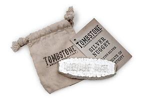 10 oz Tombstone Silver Nugget Bullion Bar .999 Fine Silver #A343