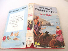 Enid Blyton Famous FIVE HAVE PLENTY OF FUN 1970 HCDJ Eileen Soper BROCKHAMPTON