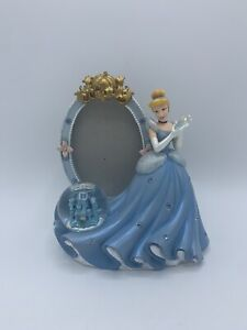 Disney Cinderella Princess Picture Frame Mini Snow Globe Castle
