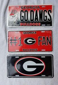 UG University Georgia Bulldogs Metal Car Tag Truck Auto License Plate NCAA