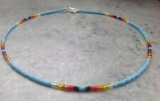 "Native American Style Multicoloured Glass Seed Bead 16"" Necklace Unwanted Gift"