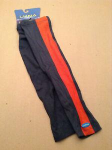 Luna Sport Women's Tuxedo Silk Merino Wool Arm Warmer Size M/L Orange Gray