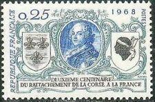 France France N°1572 1968 Bicentenaire de la Relations avec Corse Luxe