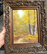 Vintage American Trees Landscape Oil Painting