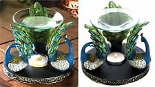 PEACOCK PLUME OIL WARMER BURNER CANDLEHOLDER ** NIB