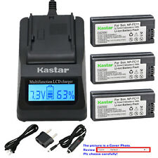 Kastar Battery LCD Fast Charger for Sony NP-FC10 NP-FC11 Sony Cyber-shot DSC-P8R