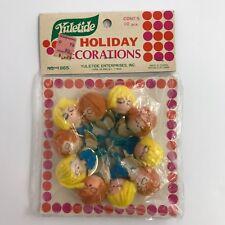 Vintage Pipe Cleaner Angel Christmas Decorations Yuletide 10 In Original Package