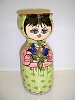 HANDMADE PORTUGAL POTTERY PITCHER HANDPAINTED 10'' TALL