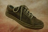 Sperry Top-Sider Brown Nubuck Leather Casual Lace Up Sneaker Shoes Mens Sze 9.5M
