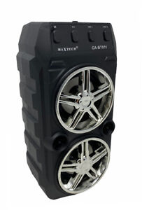 Cassa bluetooth ricaricabile 40 watt luci ingresso microfono usb sd radio fm