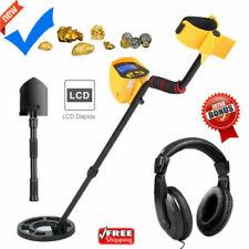 Lcd Metal Detector Gold Digger Hunter Deep Sensitive Waterproof Coil w/Headphone
