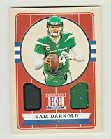 2019 Panini Chronicles HOMETOWN HEROES DUAL JERSEY RELIC SAM DARNOLD Jets 69/199