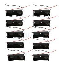 10Pcs New 18650/16340/CR123A 3.6V-4.2V Battery Clip Holder Storgae Box Case US