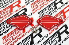 Red Ducati Diavel Cromo Carbon Amg Billet Front Brake & Clutch Reservoir Caps