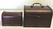 2-Set Antique Vintage Style Jewelry wooden boxes (HF 014C)