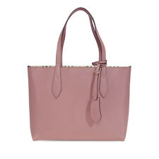 Burberry Small Reversible Leather Tote - Light Elderberry