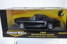 1:18 Ertl - 1968 Ford Mustang Jet CJ428 black Limited Editon neu/OVP* #32466