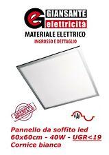 PANNELLO LED 60X60 DA SOFFITTO 40W -  UGR<19 - 3280lm LUCE COLORE 4200K