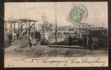 1906 Tientsin French Post Office China RPPC Postcard Cover to Watterlos France
